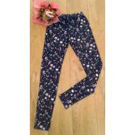 Virágmintás leggings lila (134-170)