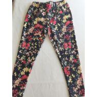 Virágmintás leggings piros (134-170)