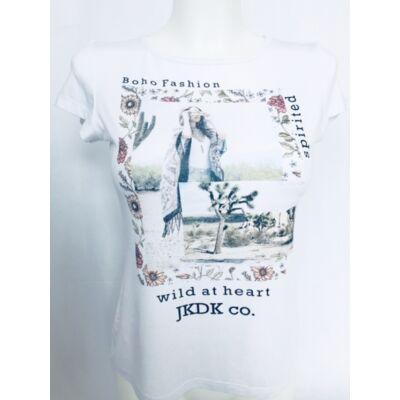 Lány divat póló fehér(128-164)