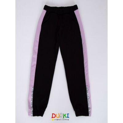 Bolyhos pamut nadrág (fekete)